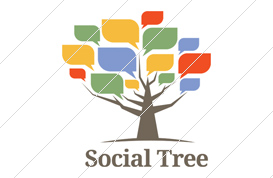 Social Tree Logo Template