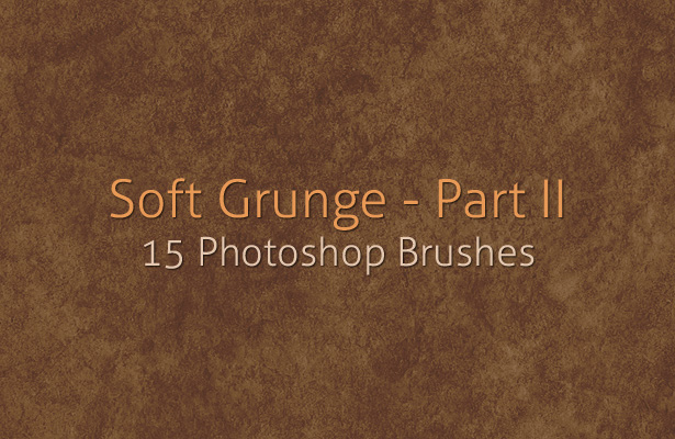 Soft Grunge Photoshop Brushes - Part II