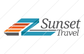 Sunset Travel Logo Template