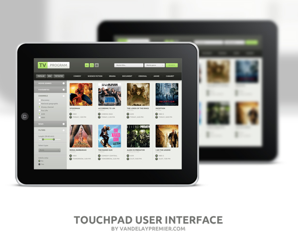 Touchpad UI Set