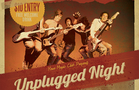 Unplugged Gig Flyer Template