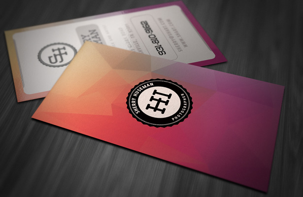 Vertical Style Business Card Template