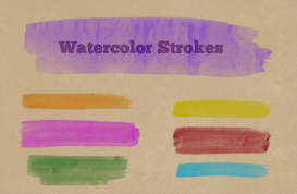 Watercolor Strokes Photoshop Brushes