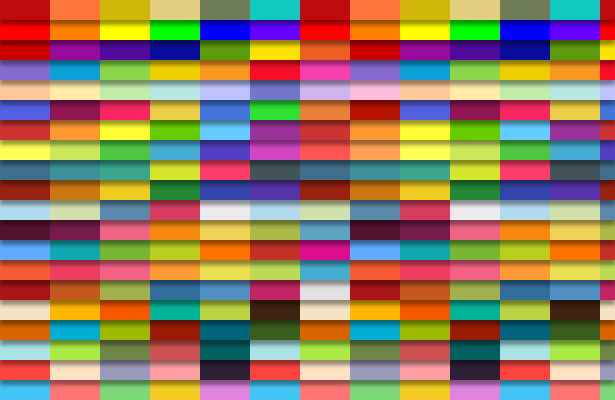 Wide Colored Bars Patterns