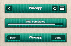 Wireapp Mobile UI Set – Fabric Style