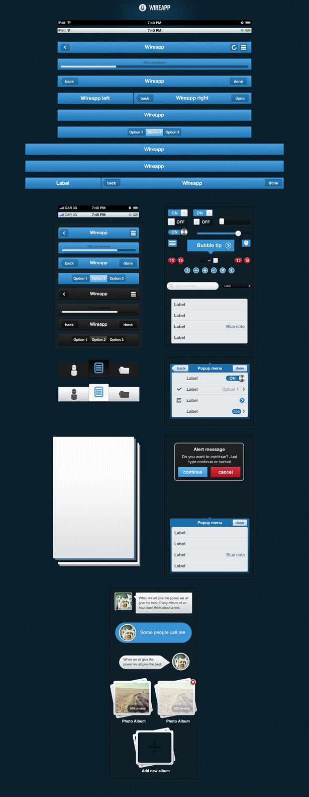 Wireapp Original UI Set