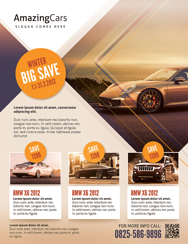 Premium Automotive Business Flyers by kinzi21 | GraphicRiver